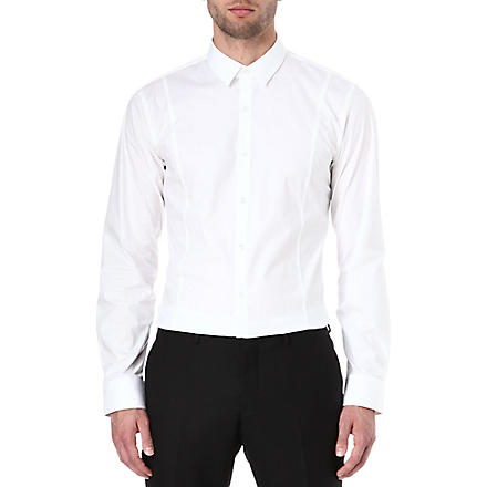 HUGO Stretch-cotton slim-fit shirt (White
