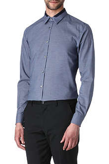 HUGO Etoni collar-trim slim-fit shirt