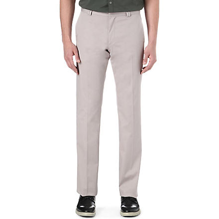HUGO Himmer stretch-cotton trousers (Beige