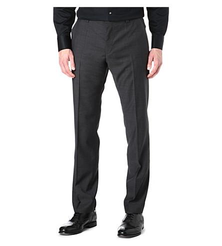 HUGO Regular-fit wool trousers (Grey