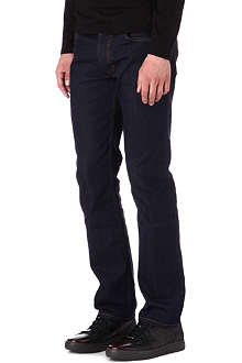 HUGO Regular-fit straight indigo jeans