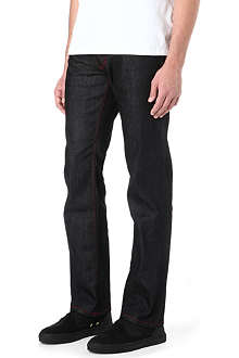 HUGO Red stitch regular-fit straight jeans
