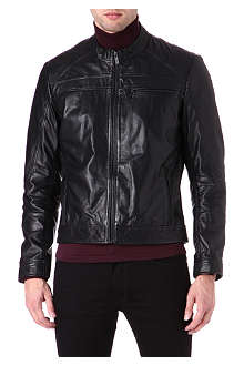 HUGO Leather biker jacket