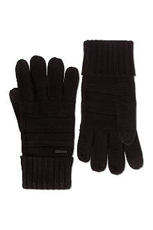 HUGO Men-W touchscreen knitted gloves