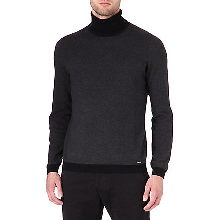 HUGO Sanel roll-neck jumper (Black