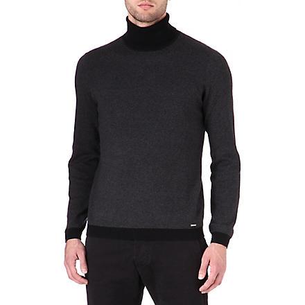 HUGO Sanel roll-neck jumper (Black