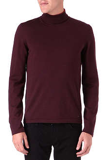 HUGO Wool roll-neck jumper