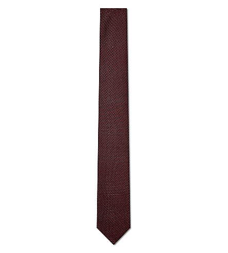 HUGO Miniature woven silk tie (Red