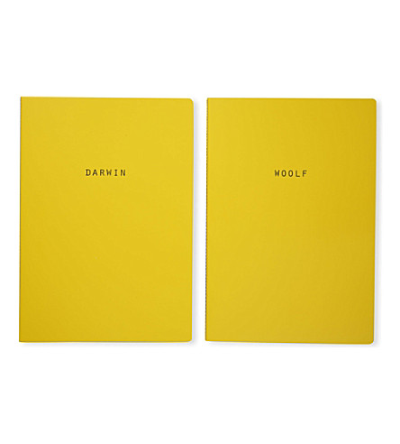 POLITE LTD Darwin and Woolf pair of A4 notebooks