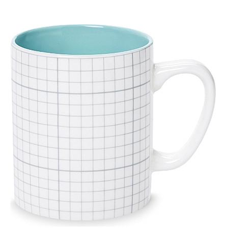 USTUDIO Paper Cup lined porcelain mug