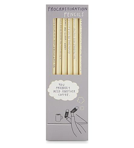 USTUDIO Procrastination pencils set of 6