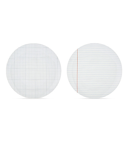 USTUDIO Paper Plates lined & graph set of two 24cm