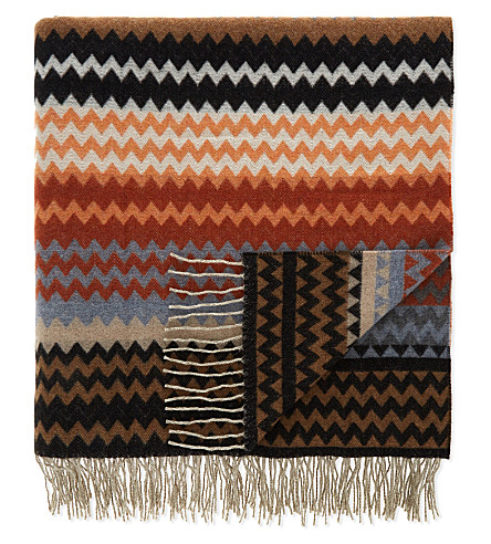 MISSONI HOME Humbert zigzag wool throw