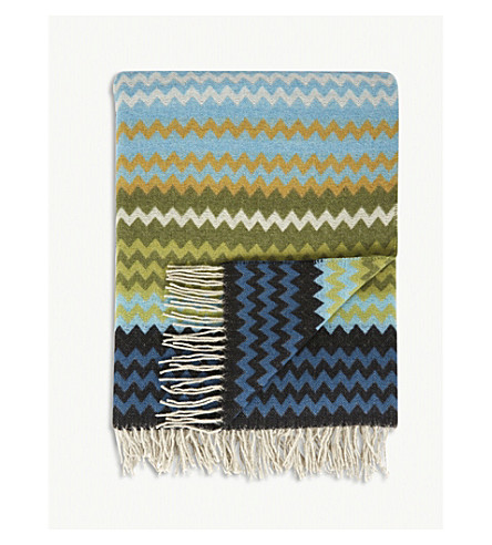 MISSONI HOME Humbert wool-blend throw 130x190cm