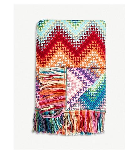 MISSONI HOME Sandra knitted throw 125x180cm