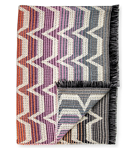 MISSONI HOME Socrate wool-blend throw