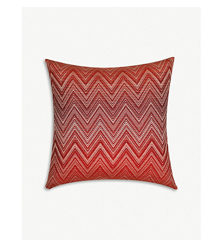 MISSONI HOME Timmy zigzag wool cushion 50x50cm