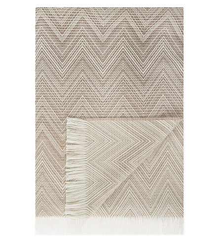 MISSONI HOME Chevron print wool throw 130cm x 190cm