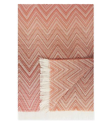 MISSONI HOME Chevron print wool throw 130cm x 190cm