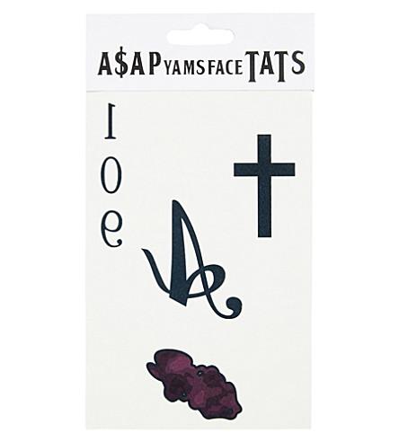 AWGE BODEGA A$AP Yams temporary tattoos