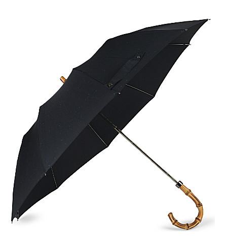 LONDON UNDERCOVER Bamboo cane telescopic umbrella