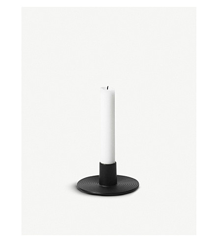 FERM LIVING Circular cast iron candle holder 4.3cm