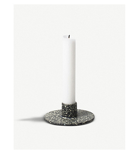 FERM LIVING Circular cast iron candle holder 3.3cm
