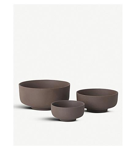 FERM LIVING Sekki stoneware bowls set of three