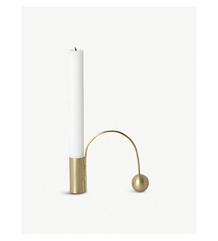 FERM LIVING Balance brass candle holder