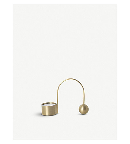 FERM LIVING Balance brass tealight holder 9cm