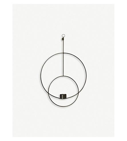 FERM LIVING Circular hanging brass tealight holder 45cm