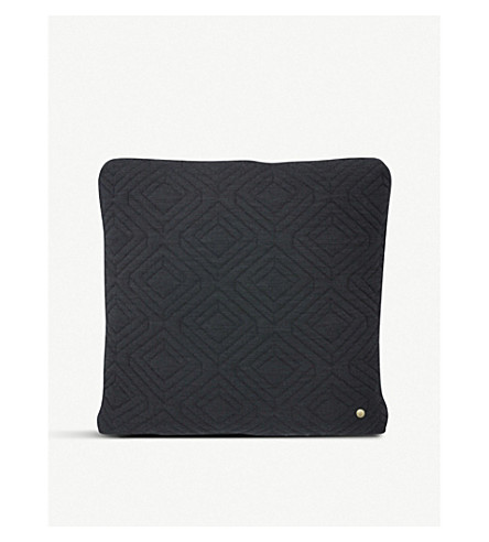 FERM LIVING Geometric quilted cushion 45x45cm