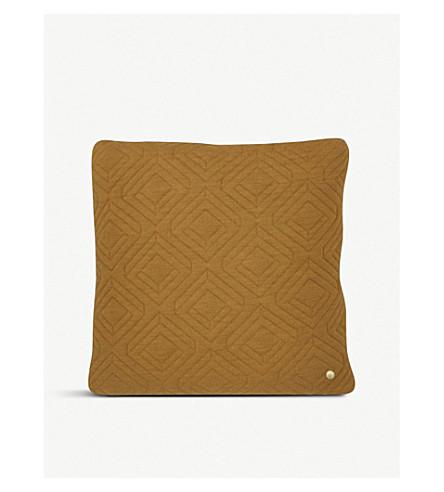 FERM LIVING Geometric quilted cushion 45x45cm