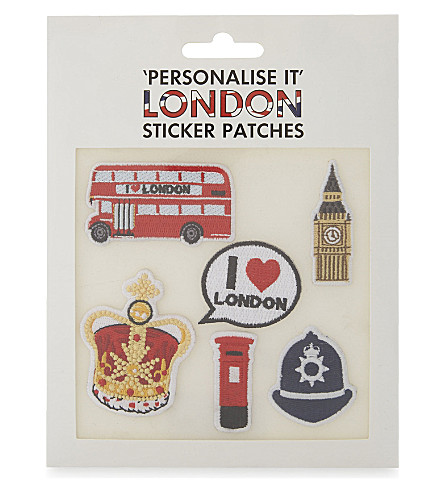ICE LONDON London embroidered stickers