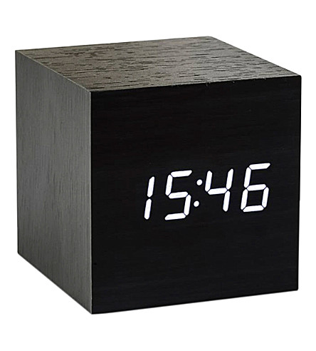 GINGKO Cube Black Click Clock
