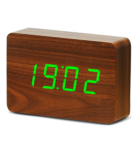 GINGKO Brick walnut click clock