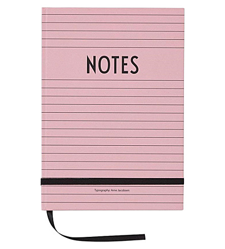 DESIGN LETTERS Notes hardback A5 notebook