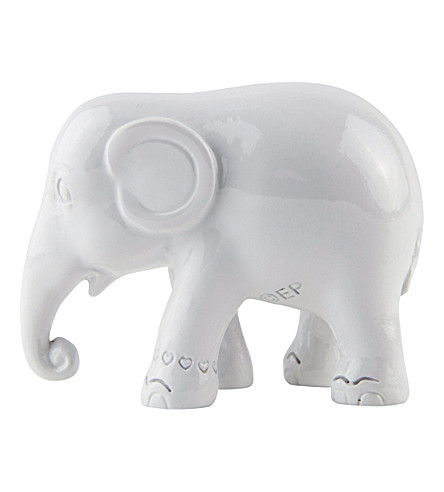 THE ELEPHANT FAMILY Simply white elephant 5cm
