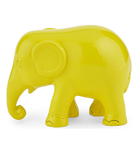 THE ELEPHANT FAMILY Simply yellow elephant 5cm