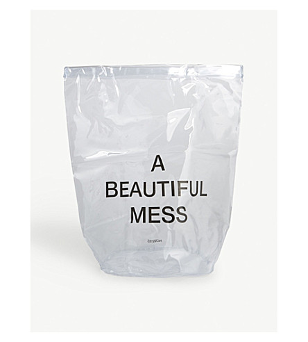 NOMESS Clear PVC laundry bag 68x30x30cm