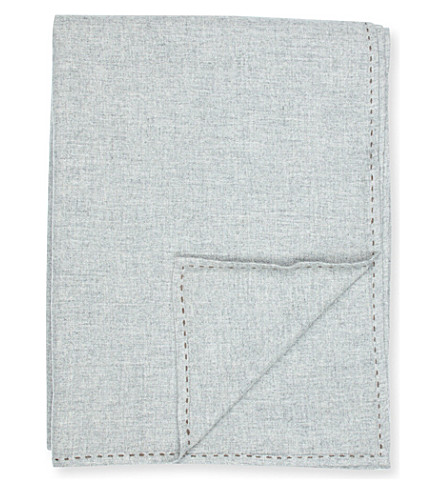 OYUNA Woven cashmere throw