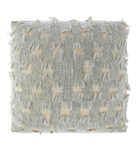 OYUNA Fringed cashmere cushion cover 44cm