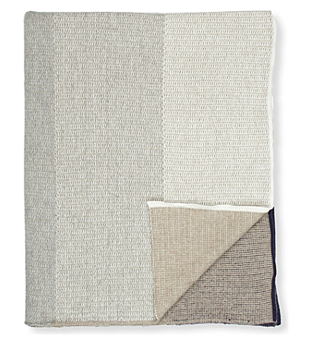 OYUNA Knitted cashmere throw