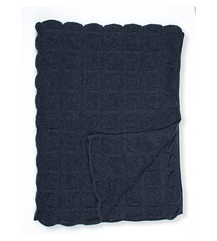 OYUNA Galia geometric cashmere throw