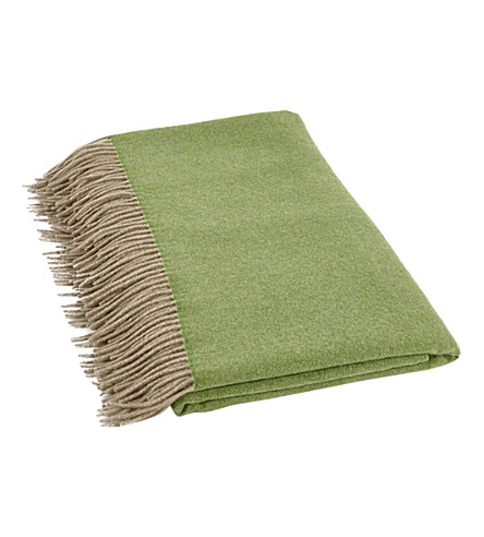 OYUNA Uno cashmere fringed throw
