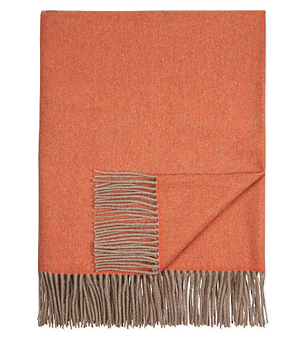 OYUNA Fringed cashmere throw