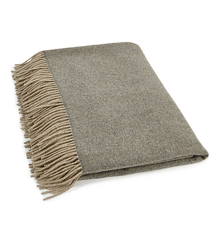 OYUNA Uno fringed cashmere throw