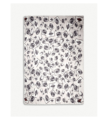 FORNASETTI Occhi modal and cashmere-blend scarf