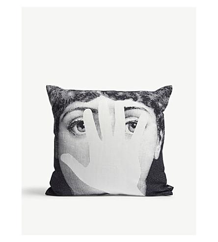 FORNASETTI Mano cotton-linen pillow