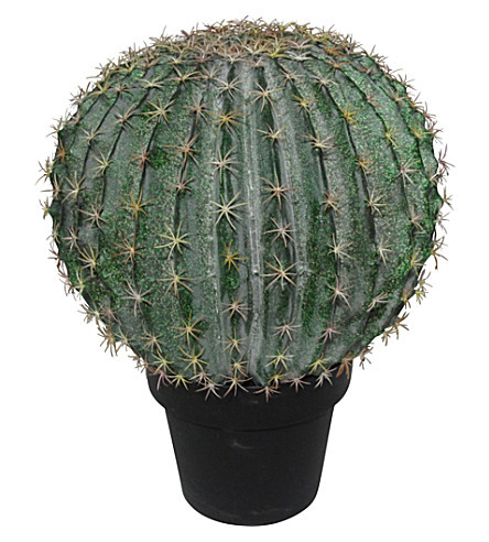 ABIGAIL AHERN Artificial potted goldenball cactus